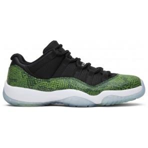 Fake Air Jordan 11 Retro Low Green Snakeskin