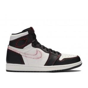Fake Air Jordan 1 Retro High Defiant White Black Gym Red