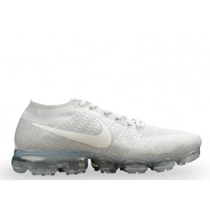 Fake Nike Air Vapormax Flyknit Pure Platinum Shoes Online