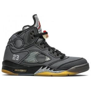 Fake Air Jordan 5 Retro Off White Black
