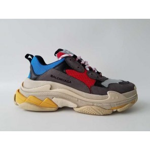 Fake 2017 Balenciaga Fall/Winter Collections Red Blue Grey Sneakers for Sale