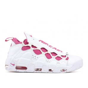 Fake Air More Money QS X Sneaker Room Breast Cancer Awareness White Pinkfire Online