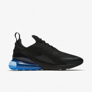 Fake Air Max 270 Black Sneaker Blue And Black Sole for Sale Online
