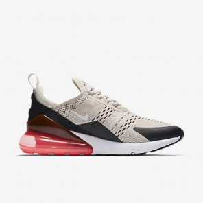 Fake Air Max 270 Creamy White Sneaker White And Red Sole for Sale Online